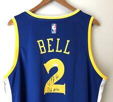 "Jordan Bell Autographed ""2018 NBA Champs"" Warriors Signed Fanatics Jersey JSA"