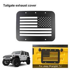 1x U.S Flag Tailgate Exhaust Vent Decor Cover Trim for Jeep Wrangler TJ 1997-06