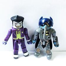 2x DC Minimates Figures Batwing Pilot Batman Chemical Warehouse Battle Joker Toy