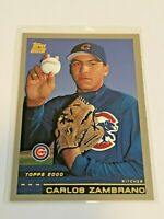 2000 Topps Traded Baseball Rookie Card - Carlos Zambrano RC - Chicago Cubs
