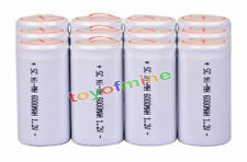 12 Sub C SubC 6000mAh 1.2V Ni-MH With Tab Rechargeable Battery High Power White