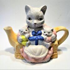 Decorative Ceramic Mama Kitty Cat Teapot / theepot