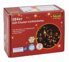 IDENA LED Lichterkette Clusterkette 384er warmweiß für innen u.außen 31807