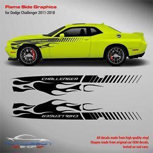 Dodge Challenger 2011 - 2018 Flame Side Graphics decals