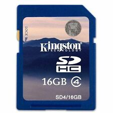 KINGSTON 16GB SDHC MEMORY CARD FOR DIGITAL CAMERA CAMCORDER SD CARD NEW