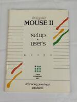 Vintage 1991 Super Mouse II Setup & User's Guide Manual Booklet Z-NIX Company