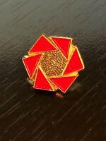 Vintage Red Gold Tone Probably a Logo Enameled Pinback Lapel Pin Hat Pin