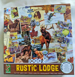 Ceaco Rustic Lodge Hunting Fishing 1000 piece Puzzle 43375 Poster