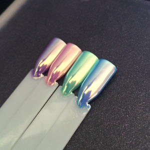 Gold Pearl Chrome Powder for Gel Nails Pigment Dust Duo Tone Mermaid Acrylic Art