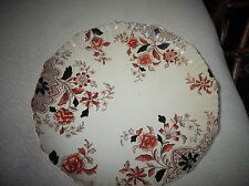ANTIQUE CAKE PLATE c1888 ALLMAN BROUGHTON & CO 8458 704A HANDPAINTED FLORAL