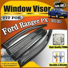 Weather Shield Weathershield Window Visors for Ford Ranger PX 2011-2017 Dual Cab