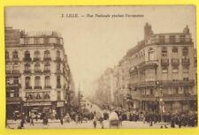 cpa Importation Belge LILLE (Nord) Rue Nationale pendant l'OCCUPATION ALLEMANDE
