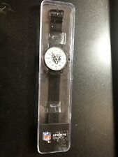 Nfl Chicago Bears Wrist Watch -Black/Silver Shock Resistant Adjustable Brand New