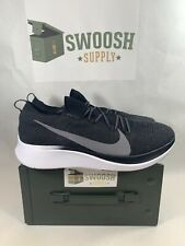 Nike Zoom Fly Flyknit Men's Running Shoes Size 9 AR4562 081 Black White