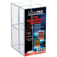 Ultra Pro Two (2) Compartment Storage Box Trading Cards Toploaders Screwdowns