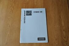 Grundig Studio 310 Audio Unit Genuine Service Manual