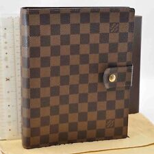 Authentic  Louis Vuitton Damier Agenda GM Day Planner Cover R20009 #S1891
