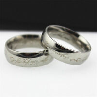 Lord of the Rings Lotr Charm Silver Stainless Steel Fashion Women Men's Ring