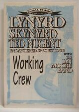 Lynyrd Skynyrd / Ted Nugent / Ian Moore - Vintage Original Cloth Backstage Pass