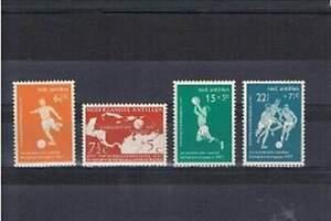 Ned. Antillen postfris 1957 MNH 265-268 - Voetbalkampioenschappen