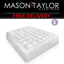 Mason Taylor Bedroom Bed King Size Bamboo Matress Topper TOPPER-BAM-K