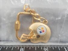 Pittsburgh Steelers NFL Helmet Gold Tone Key Ring jds2