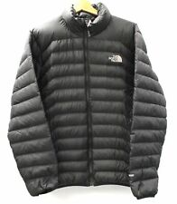 Mens THE NORTH FACE Black Puffer Jacket Goose Down Size Medium Preloved - K26