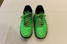 Used Green/Black Nike Tiempo Rio TF Trainers Size 7UK 41EUR