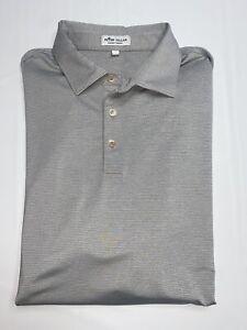 Peter Millar Summer Comfort Golf Men's Polo Shirt Size XLarge Gray No Flaws