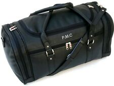 Personalised Faux Leather PU Weekend Holdall Travel Bag Duffle Sports Gym Work