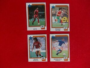 football stickers PANINI SOCCER 1988 X 4 cards