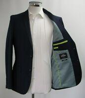 Men's Harry Brown Slim Fit 2pc Suit in Microcheck Navy Blue (40R).. Sample 4719