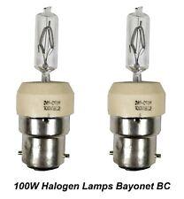 2 x 240V 100W Bayonet Halogen Light Lamp Globes Bulbs BC B22