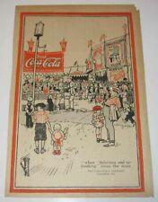 1920 Coca Cola Magazine Ad Circus Big Top Tent Delicious Drink Coke Flag Whistle