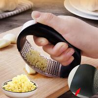 Garlic Press Crusher Manual Kitchen Tool Stainless Steel Masher Tool Squeezer