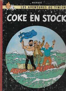 Coke en Stock Les Aventures de TinTin Herge Casterman Hardcover  Round Back 1958