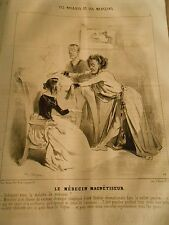Litho 1843 - patients and doctors The Medein Magnetizer