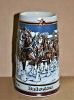 Anheuser Busch 1989 Handcrafted Collector's Series Stein, with Clydesdales, Mint