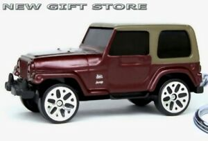 HTF KEY CHAIN RING BROWN/MAROON TAN JEEP WRANGLER 4X4 BRAND NEW LIMITED EDITION