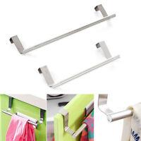 Hot Over Door Towel Rack Bar Hanging Holder Bathroom Kitchen Cabinet Shelf Rack