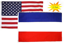 3x5 3'x5' Wholesale Set (2 Pack) Usa American & Yugoslavia Country Flag Banner