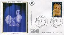 FRANCE FDC - 2902 1 COLUCHE - 17 Septembre 1994 - LUXE sur soie