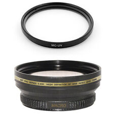 Wide Lens + Macro,UV filter for Nikon 18-140mm VR AF-S DX NIKKOR D7100 7000 5300