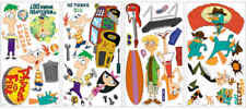 Phineas and Ferb Removable Wall Appliques Sticker Set Finias Fineas Phinias NEW!