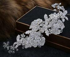 Sequin Crystal Headpieces Rhinestone Flower Bridal Hair Accessories for Wedding