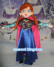 Hot Anna Princess Mascot Costume Cartoon Fancy Party Character Dress Adult Size