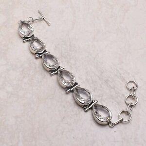 White Topaz Ethnic Gift Jewelry Handmade Bracelet 25 Gms AB 59173