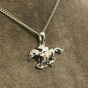 Clogau Silver & Rose Gold Chester Racecourse Horse and Jockey Pendant £10 OFF!