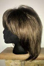 Monofilament Cap Medium Length Layered Wigs for Women