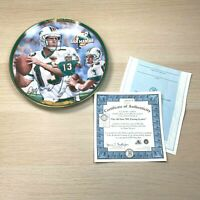 Dan Marino Commemorative Edition Bradford Exchange Plate All Time Passing Leader